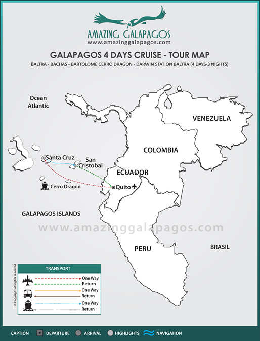 Tourmap Galapagos 4 days cruise